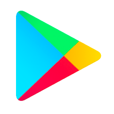 Google Play store logo - blue, green, yellow and red triangle facing right