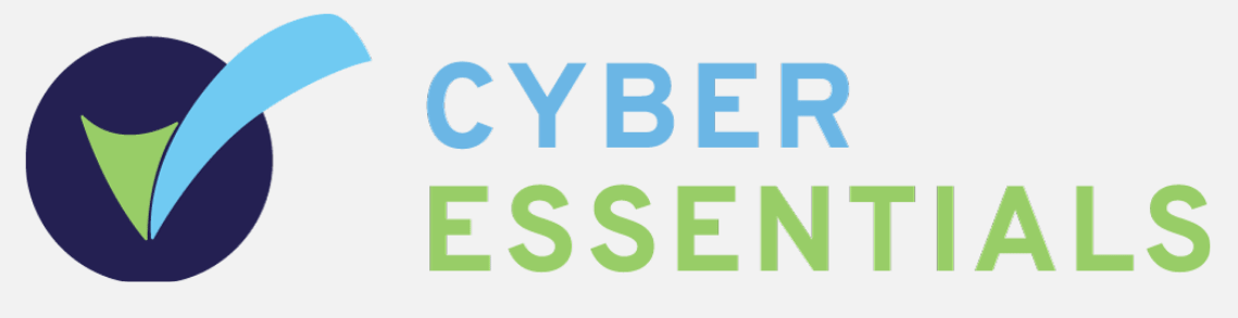 cyber-essentials logo, light blue, dark blue and green in colour,