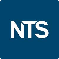NTS logo on blue background